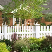 White Vinyl Picket Fences