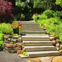 Outdoor Stone Stairway